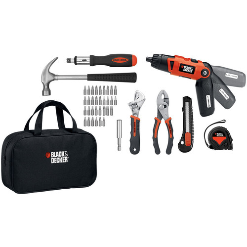 Black & Decker LI2000PK 3.6V 3 Position Rechargeable Screwdriver and Project Kit