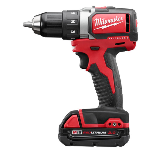 Factory Reconditioned Milwaukee 2701-82CT M18 1/2 in. Cordless Lithium-Ion Compact Brushless Drill Driver Kit