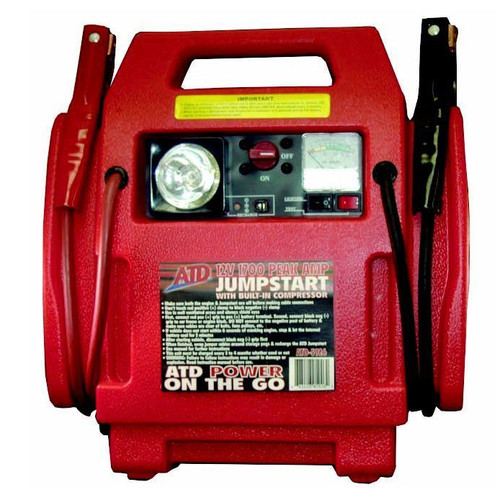 ATD 5926 12V 22 Ah Battery Jump Starter with Built-In Air Compressor