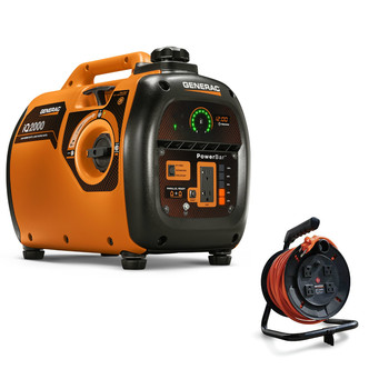 Generac 6866-6883BNDL Portable Inverter Generator with 50 ft. Power Cord Reel image number 0