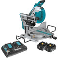 Makita XSL06PT 18V X2 LXT Lithium-Ion (36V) Brushless Cordless 10-in Dual-Bevel Sliding Compound Miter Saw with Laser Kit (5.0Ah)