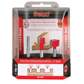 Freud 89-660 3 Piece Undersize Plywood 1/4 in. Shank Router Bit Set