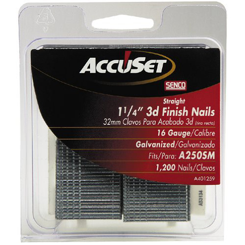 SENCO A401259 16-Gauge 1-1/4 in. Straight Strip Finish Nails (1,200-Pack)