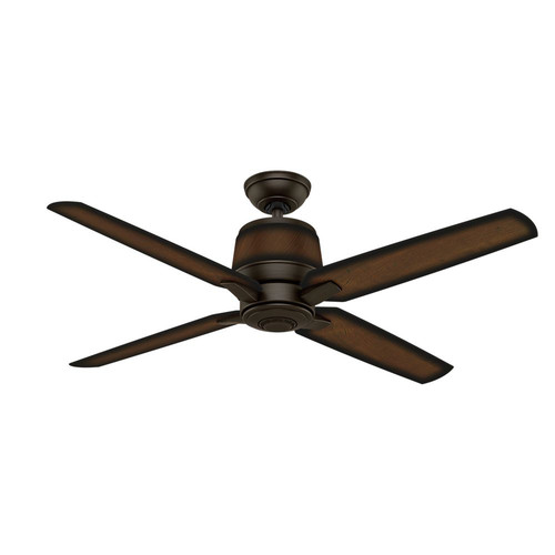 Casablanca 59124 Aris 54 in. Contemporary Brushed Cocoa Burnished Mahogany Plastic Outdoor Ceiling Fan