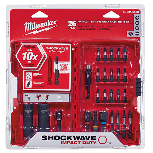 Milwaukee 48-32-4408 26-Piece Shockwave Drive and Fasten Bit Set