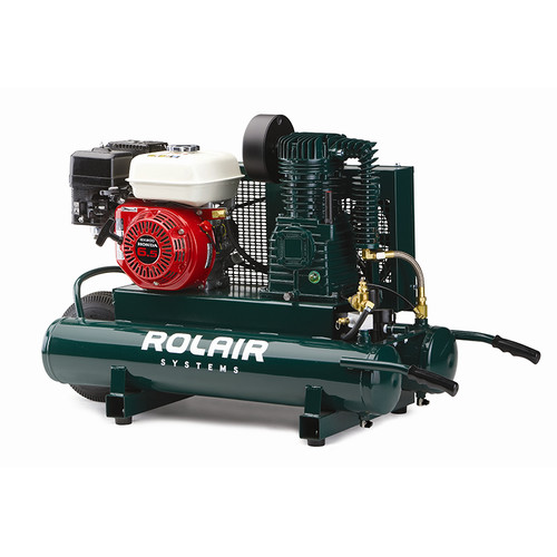 Rolair 6590HK18-0001 9 Gallon 196cc 6.5 HP Portable Belt Drive Air Compressor