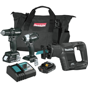 Makita CX300RB 18V LXT Lithium-Ion Sub-Compact Brushless Cordless 3-Pc. Combo Kit image number 0