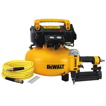 Factory Reconditioned Dewalt DW1KIT18PPR 0.9 HP 6 Gallon Oil-Free Pancake Air Compressor/ 18 GA Precision Point Brad Nailer Combo Kit