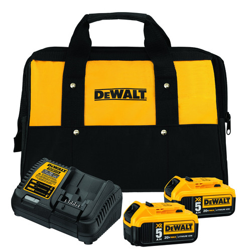 Dewalt DCB205-2CK 20V MAX 5 Ah Lithium-Ion Battery (2-Pack) and Charger Starter Kit image number 0