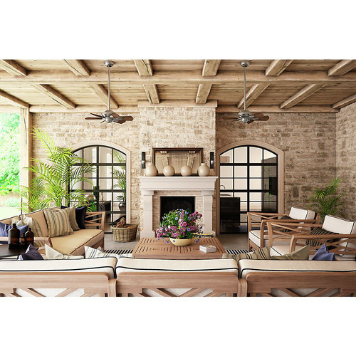 Casablanca 59524 31 in. Traditional Wailea Brushed Nickel Dark Walnut Outdoor Ceiling Fan image number 6