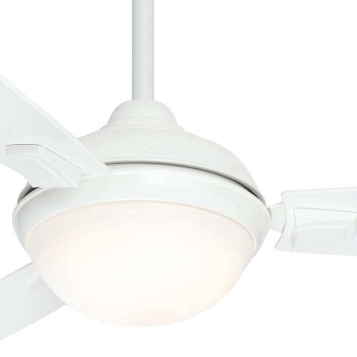 Casablanca 59153 44 in. Verse Fresh White Ceiling Fan with Light and Remote image number 5