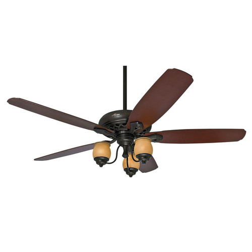 Hunter 55045 Torrence 64 in. Casual Provence Crackle Mahogany Indoor Ceiling Fan with 3 Lights