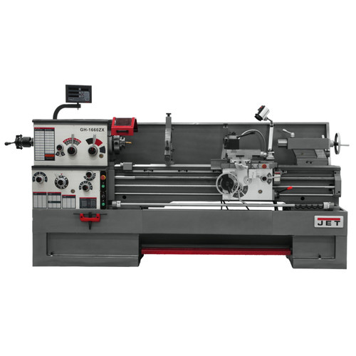 JET GH-1660ZX Lathe with 2-Axis ACU-RITE 200S and Collet Closer Installed