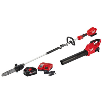 Milwaukee 2825-21PSB M18 FUEL Brushless Lithium-Ion QUIK-LOK Cordless Pole Saw / Blower Combo Kit (9 Ah)
