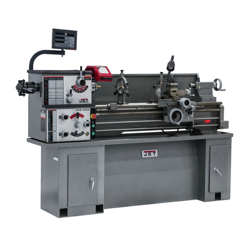 JET GHB-1340A Lathe with ACU-RITE 200S DRO and Taper Attachment Installed image number 0