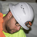 Klein Tools 60407 Vented Full Brim Hard Hat with Cordless Headlamp - White image number 5