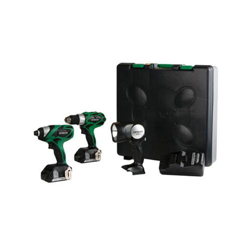 Hitachi KC18DHL HXP 18V Cordless Lithium-Ion 3-Tool Combo Kit