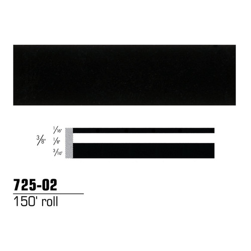 3M 72502 Scotchcal Striping Tape, Black, 3/8 in. x 150 ft.