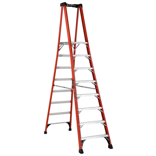 Louisville FXP1808HD 8 ft. Type IAA Duty Rating 375 lbs. Load Capacity Fiberglass Platform Step Ladder image number 0