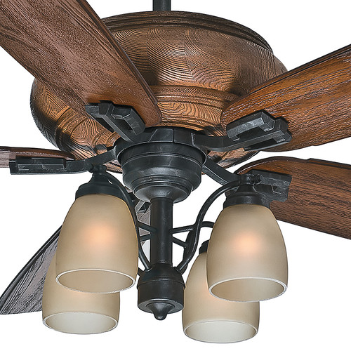 Casablanca 55051 60 in. Heathridge Aged Steel Ceiling Fan with Light and Remote image number 8