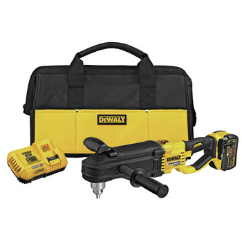 Dewalt DCD470X1 FLEXVOLT 60V MAX Lithium-Ion In-Line 1/2 in. Cordless Stud and Joist Drill Kit with E-Clutch System (9 Ah)
