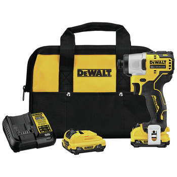 Dewalt DCF801F2 XTREME 12V MAX Brushless Lithium-Ion 1/4 in. Cordless Impact Driver Kit (2 Ah)