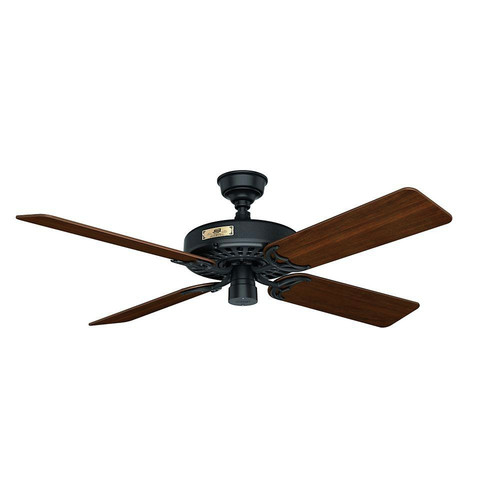 Hunter 23838 52 in. Outdoor Original Black Ceiling Fan image number 0