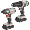 Porter-Cable PCCK604L2 20V MAX Cordless Lithium-Ion Drill Driver and Impact Drill Kit image number 1