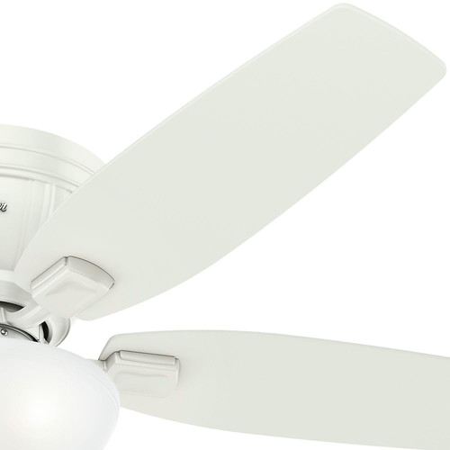 Hunter 53378 52 in. Kenbridge Fresh White Ceiling Fan with Light image number 2
