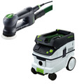 Festool RO 90 DX Rotex 3-1/2 in. Multi-Mode Sander with CT 26 E 6.9 Gallon HEPA Dust Extractor
