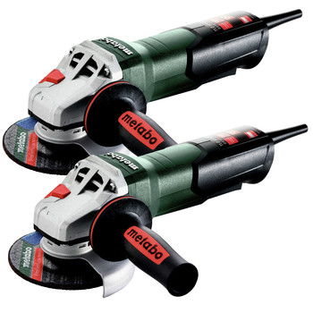 Metabo 603624420-BNDL Metabo WP 11-125 Quick 11 Amp 11,000 RPM 4.5 in. / 5 in. Corded Angle Grinder with Non-Locking Paddle (2-pack)