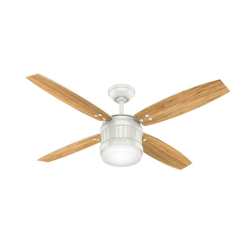 Hunter 59314 52 in. Seahaven Fresh White Ceiling Fan with Light and Handheld Remote image number 0