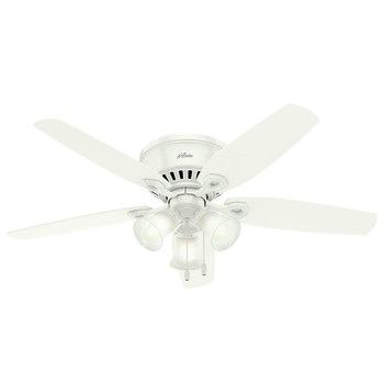 Hunter 53326 52 in. Builder Low Profile Snow White Ceiling Fan with LED