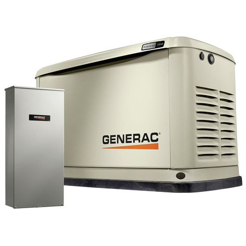 Generac 7174 Guardian 13kW Home Backup Generator with 16-Circuit Transfer Switch (WiFi-Enabled)