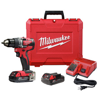 Factory Reconditioned Milwaukee 2801-82CT M18 Lithium-Ion Compact Brushless 1/2 in. Cordless Drill Driver Kit (2 Ah)