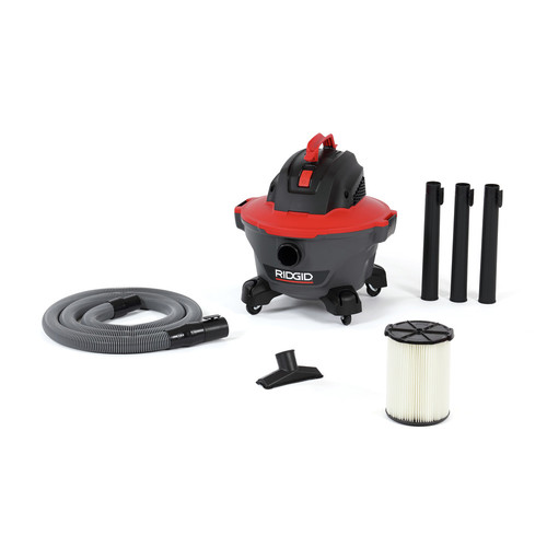 Ridgid 62698 RT0600 NXT 8.3 Amp 996-Watt 4.25 HP 70 CFM 6 Gallon Corded Wet/Dry Vacuum Kit image number 0