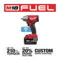 Milwaukee 2758-22 M18 FUEL 5.0 Ah Cordless Lithium-Ion 3/8 in. Compact Impact Wrench Kit with Friction Ring & ONE-KEY Connectivity image number 2