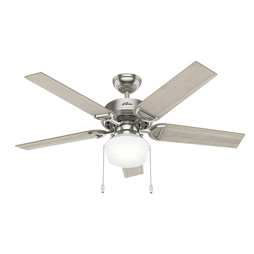 Hunter 53419 52 in. Viola Ceiling Fan with Light (Brushed Nickel) image number 0