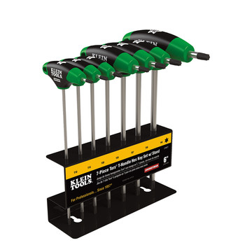 Klein Tools JTH67T 7-Piece TORX 6 in. Blade T-Handle Hex Key Set with Stand