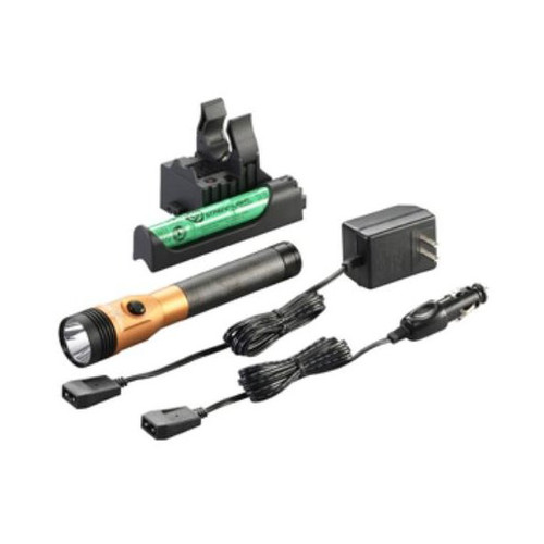 Streamlight 75490 Stinger DS LED HL Rechargeable Flashlight with Piggyback Charger (Orange)