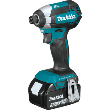 Makita XDT131 18V LXT 3.0 Ah Cordless Lithium-Ion Brushless Impact Driver Kit image number 1