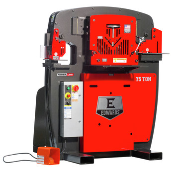 Edwards IW75-3P230-AC600 230V 3-Phase 75 Ton JAWS Ironworker with Hydraulic Accessory Pack