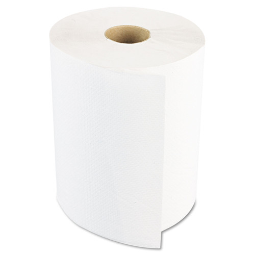 Boardwalk 8123 12 Rolls/Carton 2 in. Core 1-Ply 8 in. x 600 ft. Hardwound Paper Towels - White image number 0