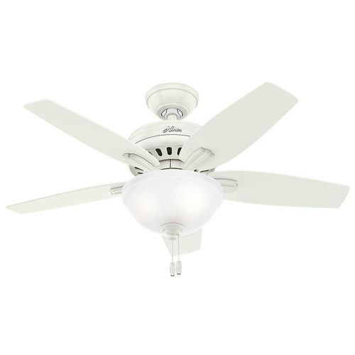 Hunter 51086 42 in. Newsome Fresh White Ceiling Fan with Light image number 0