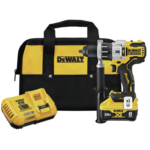 Dewalt DCD998W1 20V MAX XR Brushless Lithium-Ion 1/2 in. Cordless Hammer Drill Driver with POWER DETECT Tool Technology Kit (8 Ah) image number 0