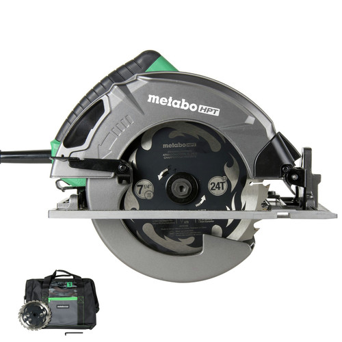 Metabo HPT C7SB3M 15 Amp Single Bevel 7-1/4 in. Corded Circular Saw with Blower Function, and Aluminum Die Cast Base image number 0