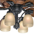 Casablanca 55051 60 in. Heathridge Aged Steel Ceiling Fan with Light and Remote image number 7