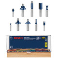 Bosch RBS010 All-Purpose Professional Carbide-Tipped 10-Piece Router Bit Set image number 0