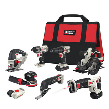Porter-Cable PCCK6118 20V MAX Lithium-Ion 8-Tool Combo Kit