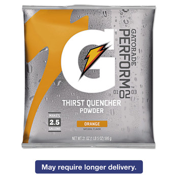 Gatorade 03970 G2 Low-Calorie 21 oz. Powder Drink Mix Pouches - Orange (Carton of 32 Each)